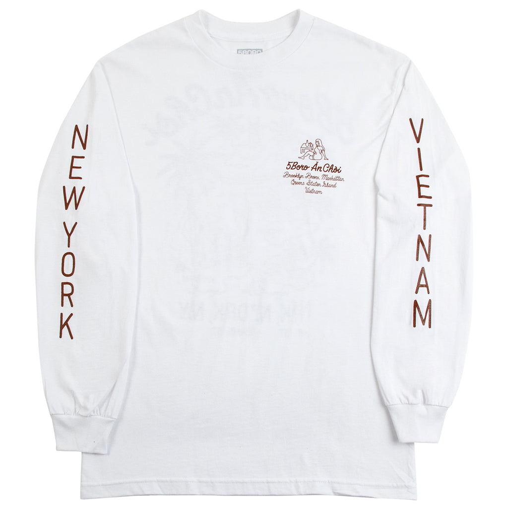 5Boro L/S An Choi T Shirt - White