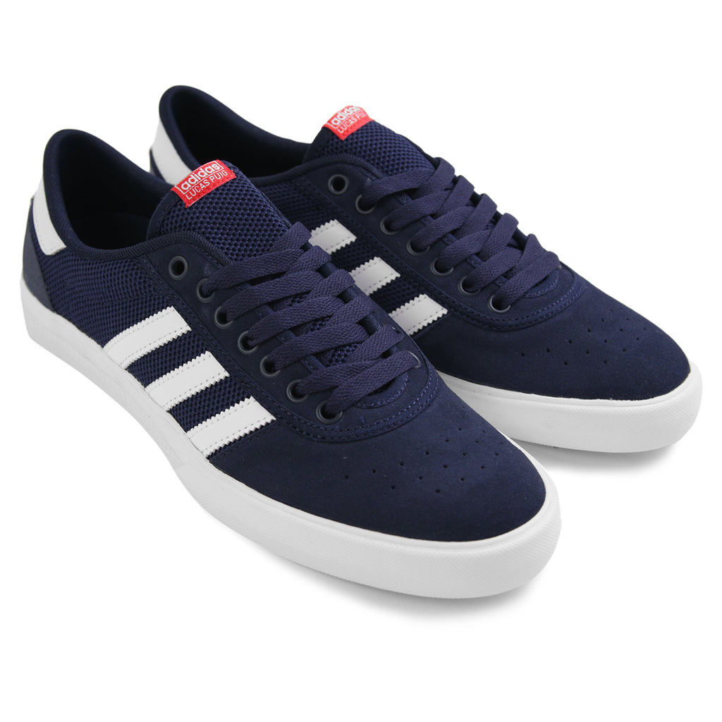 Adidas Lucas Premiere ADV Shoes in Collegiate Navy / White / Scarlet - Pair