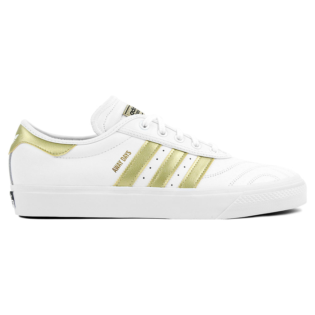 "Adidas Skateboarding Adi Ease Premiere ""Away Days"" Shoes - White / Gold Metallic / Gum"
