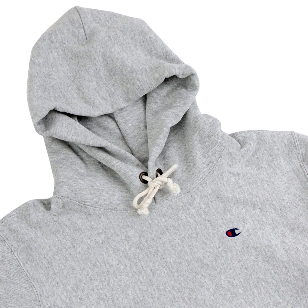 Champion Hooded Sweatshirt in Oxford Grey - Detail