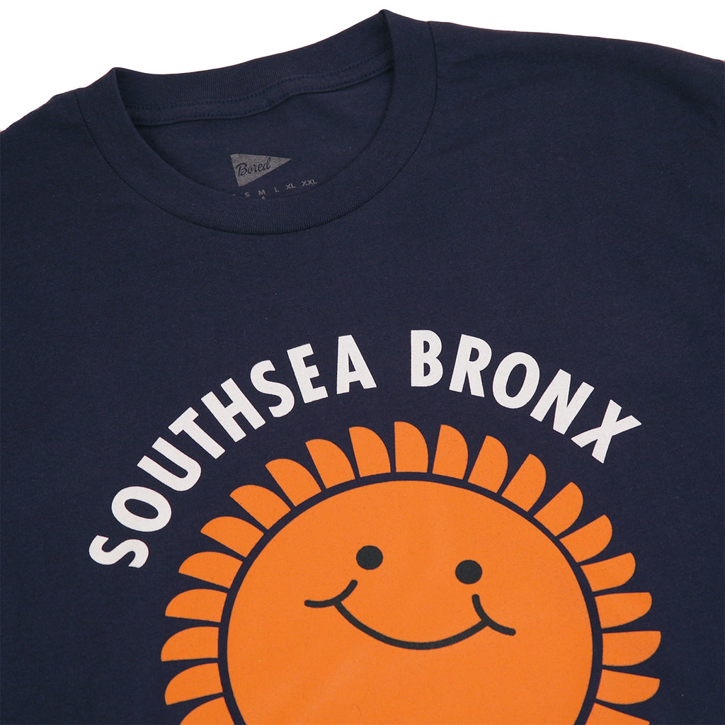 Southsea Bronx Strong Island T Shirt in Navy - Detail
