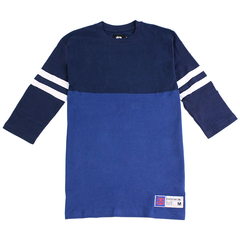 Stussy Football Jersey 3 / 4 in Navy