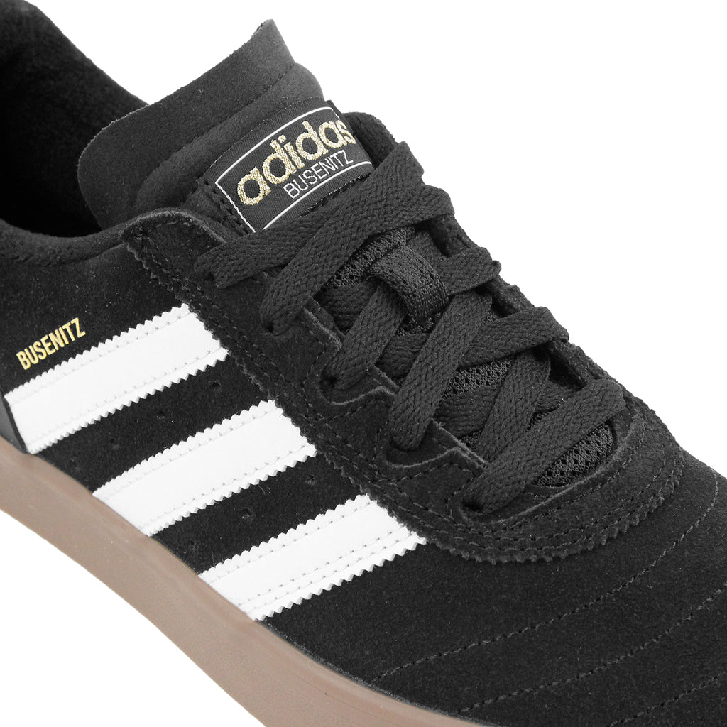 Adidas Skateboarding Busenitz Vulc Shoes in Core Black / FTW White / Gum - Laces