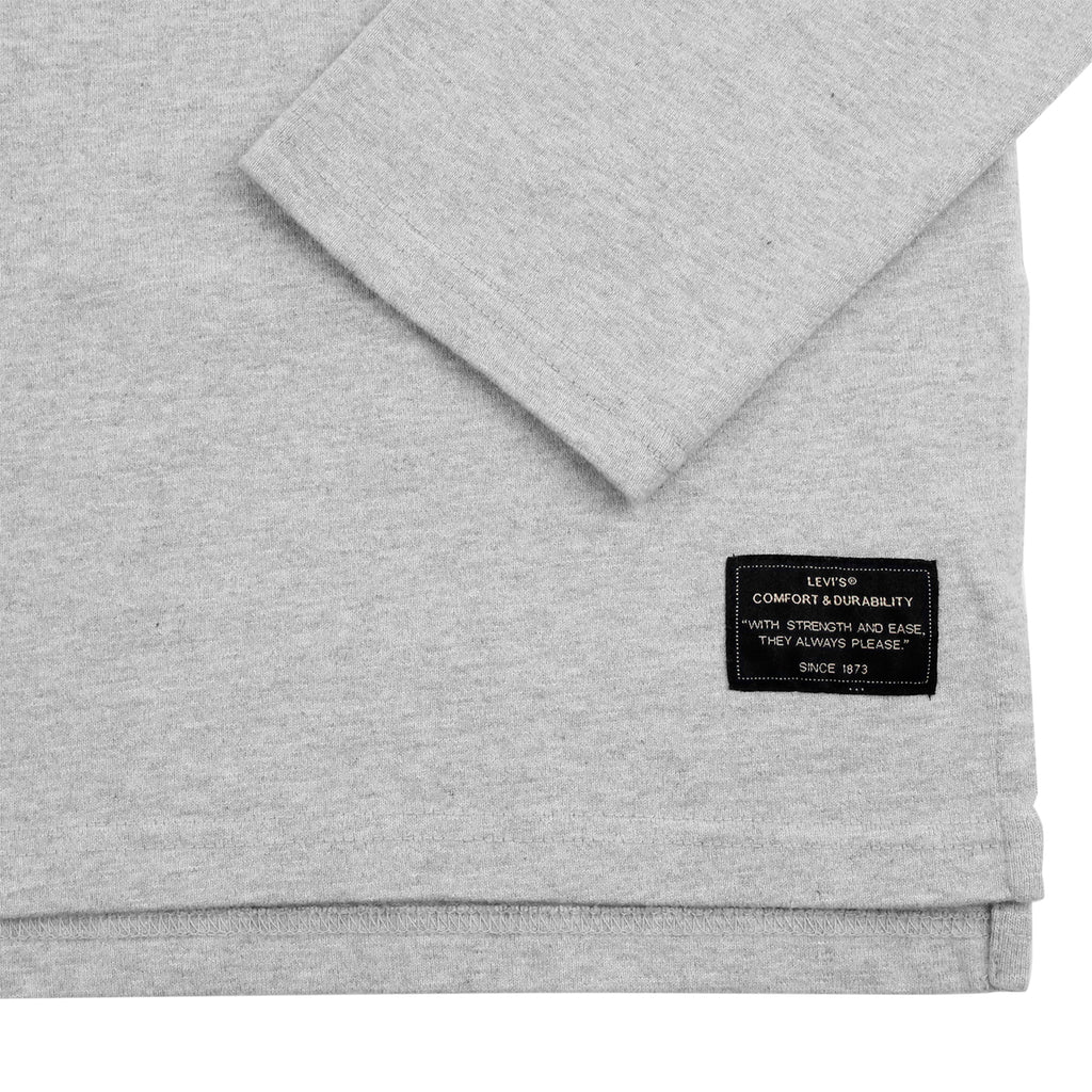 Levi's Skateboarding Collection L/S Football Shirt in Rollerskate Grey Heather - Sleeve