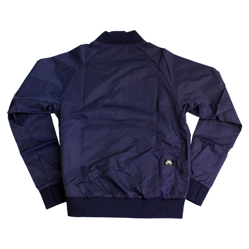 Nike SB Davis Satin Bomber Jacket in Obsidian - Back