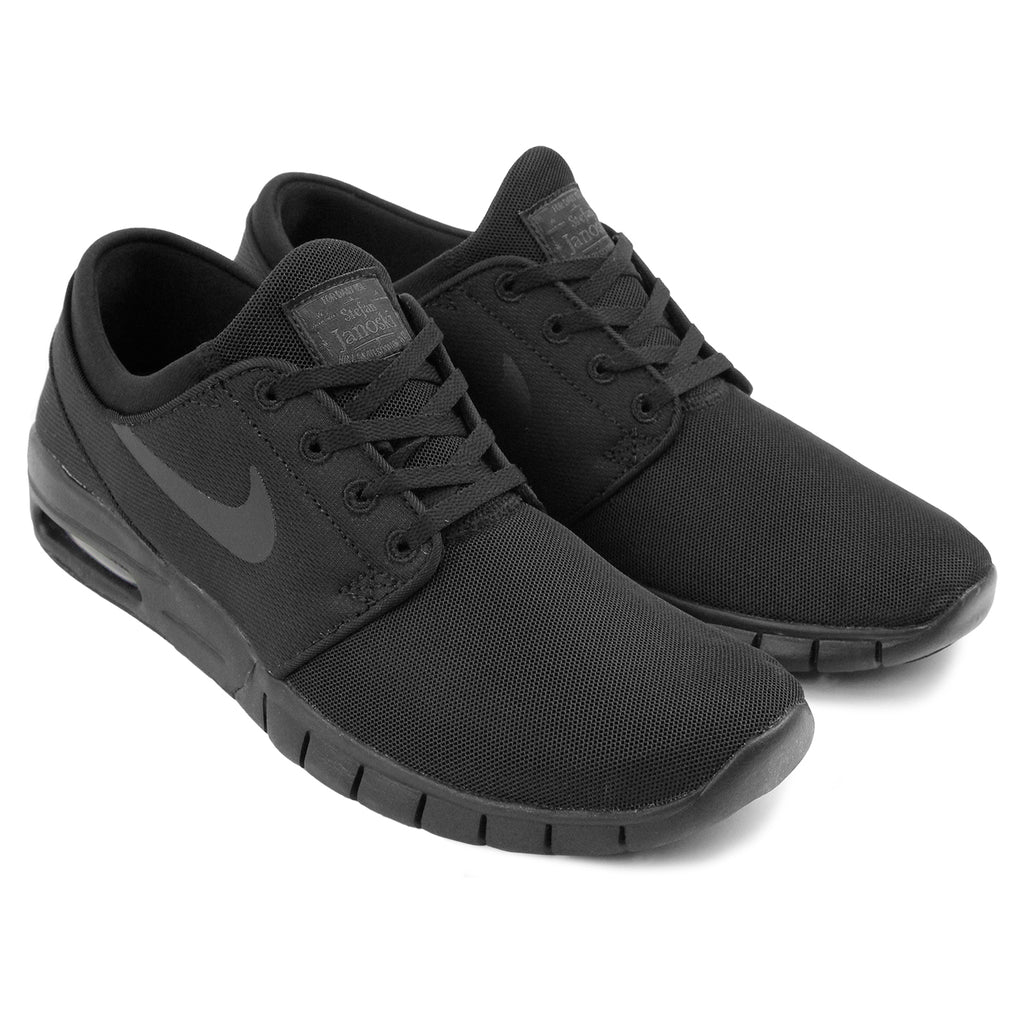 Nike SB Stefan Janoski Max Shoes - Black / Black - Anthracite in Black - Paired