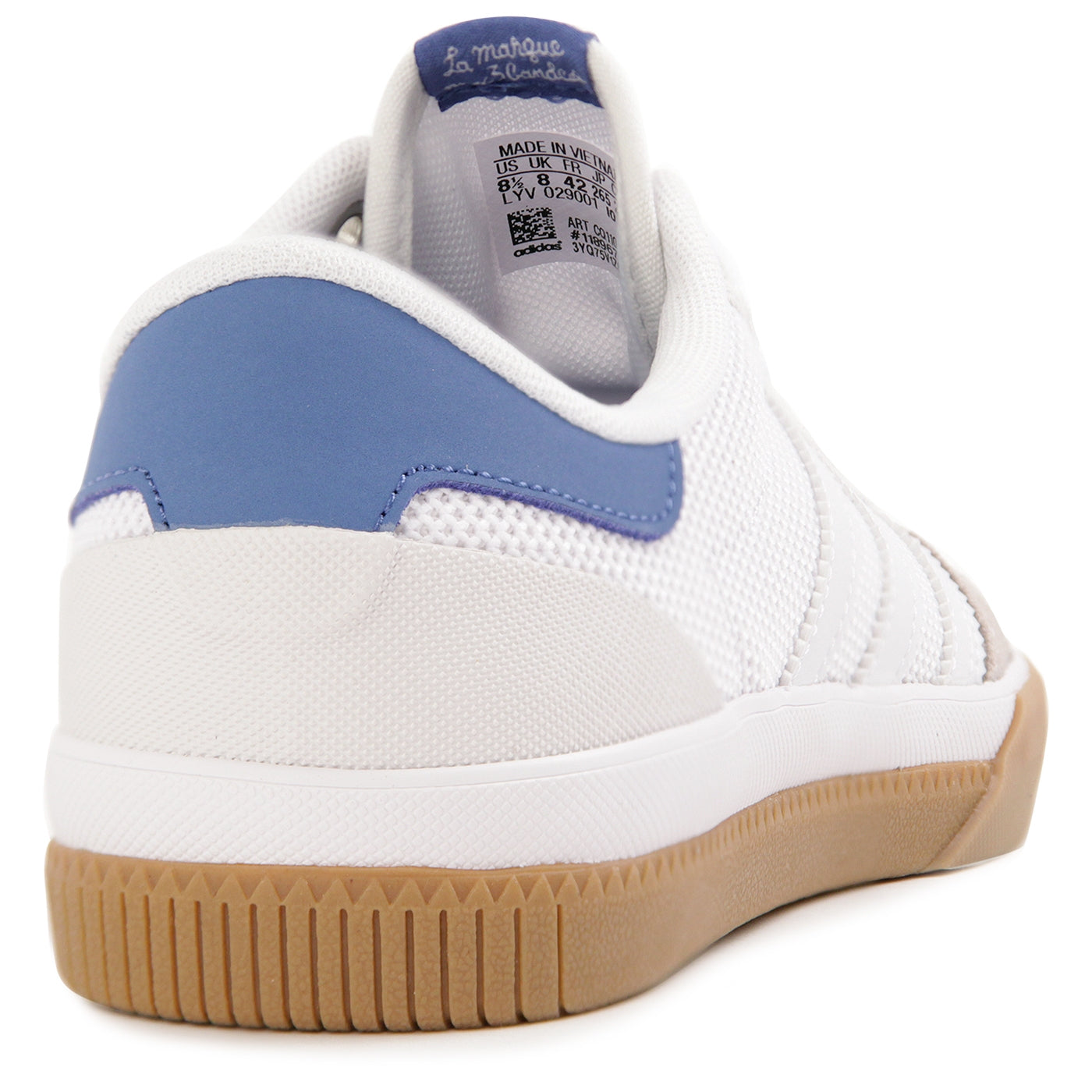 official photos 1db85 d532f Adidas Lucas Premiere Shoes - Footwear White  Trace Royal  Gum. Size  Charts