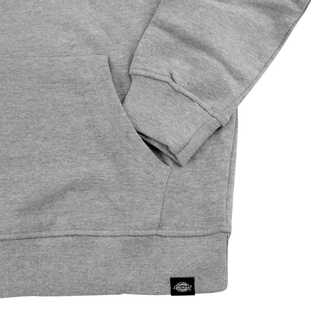 Dickies Nevada Hoodie in Grey Melange - Cuff