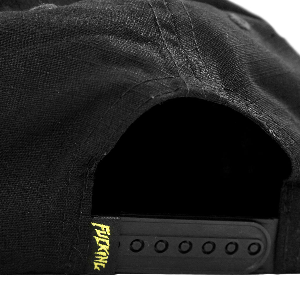 Fucking Awesome Africa Cap in Black - Snapback closure