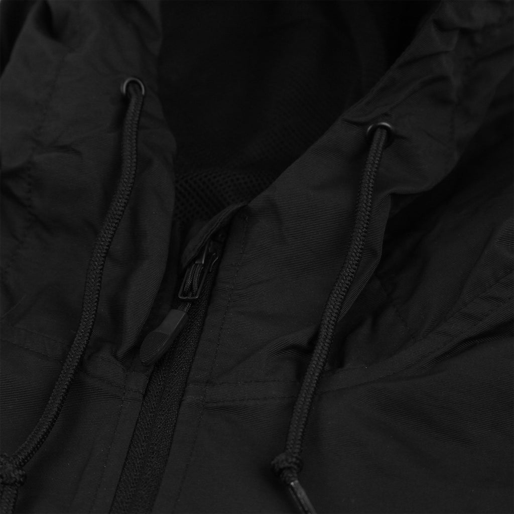 Bored of Southsea BDG Windbreaker Anorak Jacket in Black - Drawstring