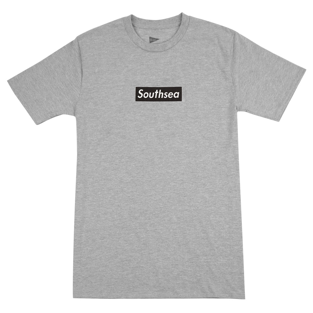 "Bored of Southsea ""Southsea"" T Shirt in Heather Grey / Black Box"