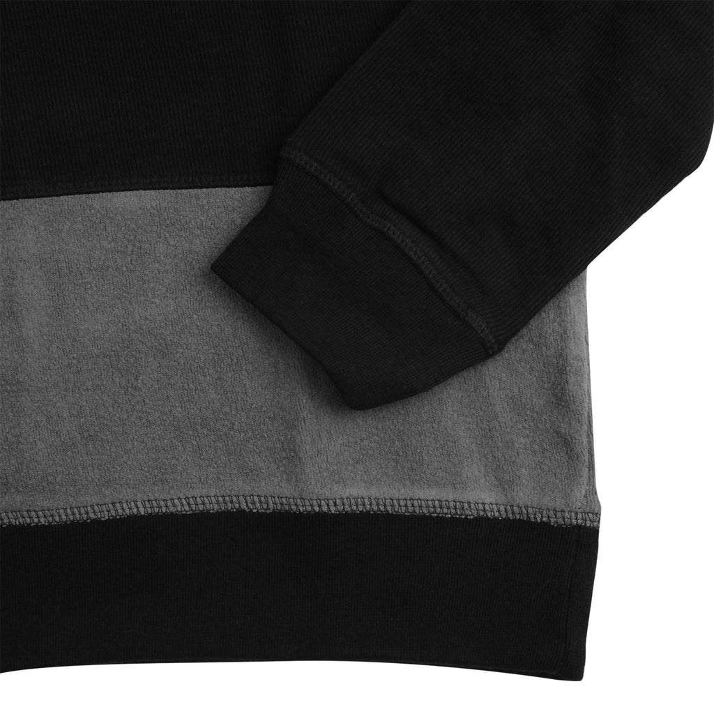 Stussy Paneled L/S Crew Sweatshirt in Black - Cuff