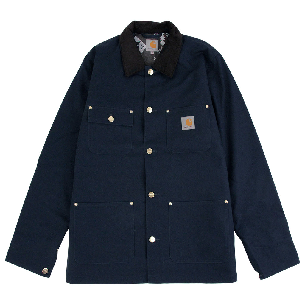 Carhartt Michigan Chore Coat in Navy Rigid