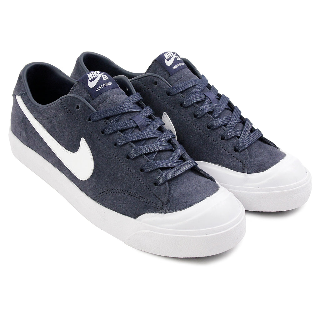Nike SB Zoom All Court CK QS Shoes in Obsidian / White - Paired