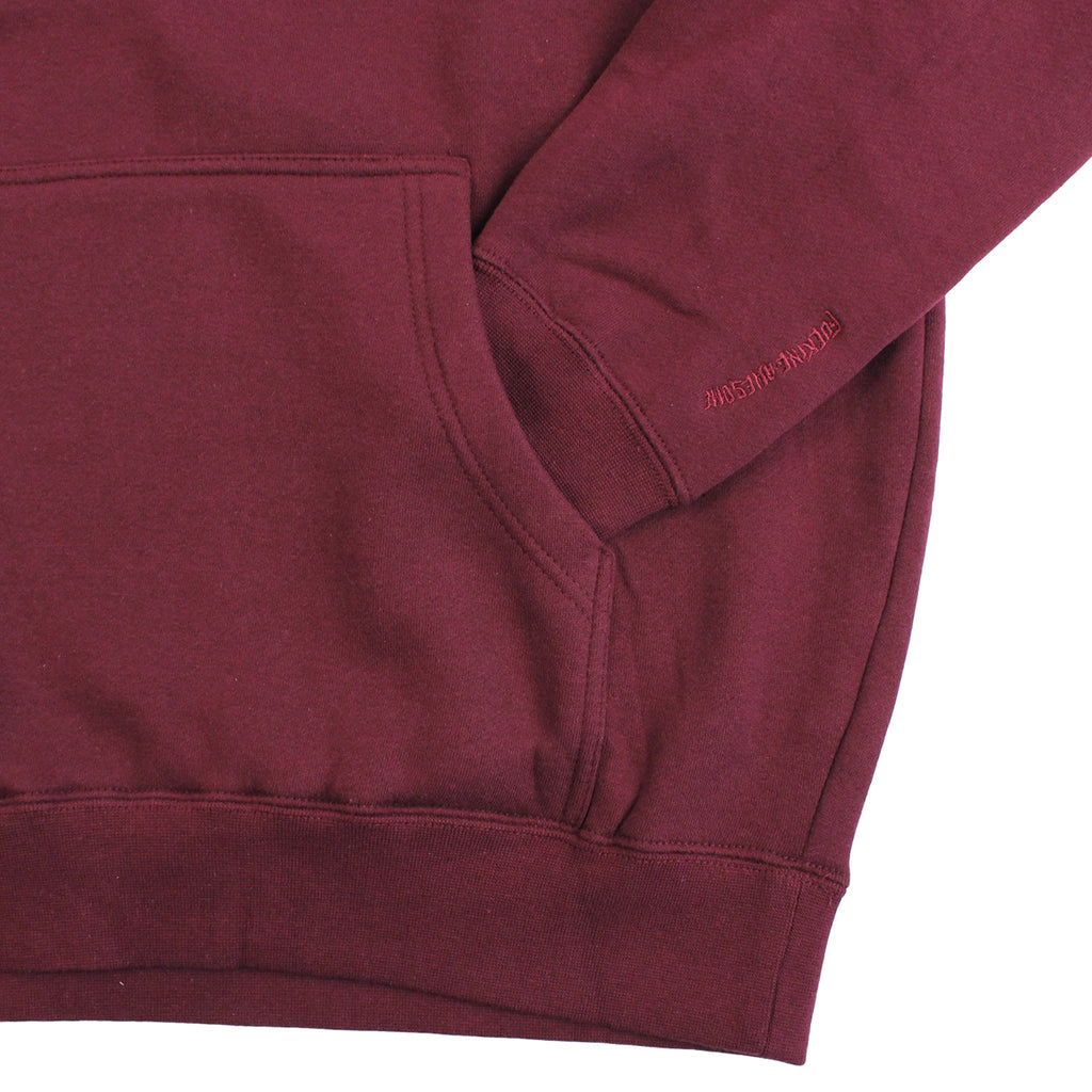 Fucking Awesome FA Embroidered Logo Hoodie in Burgundy - Pocket