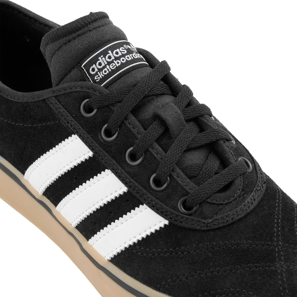 Adidas Skateboarding Adi Ease Premier Shoes in Core Black / FTW White / Gum - Laces