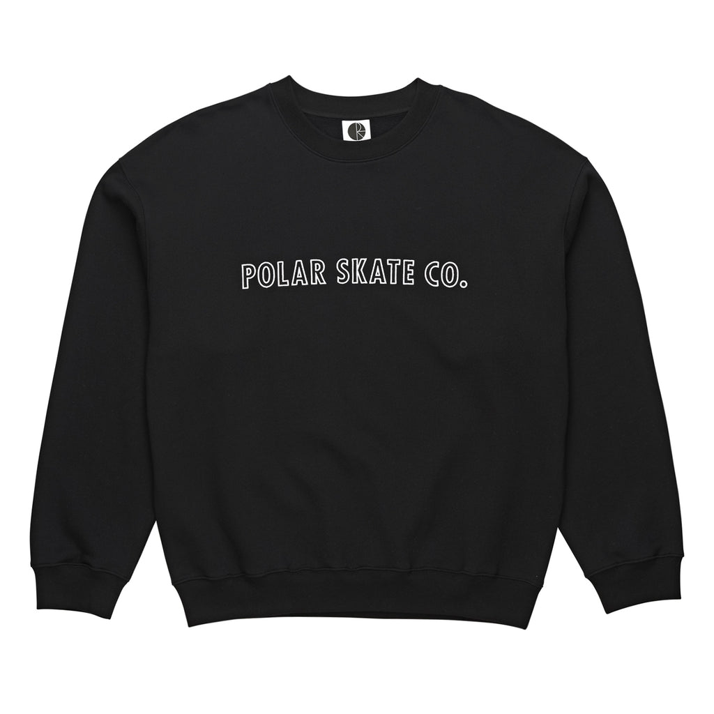 Polar Skate Co Outline Crewneck Sweatshirt in Black