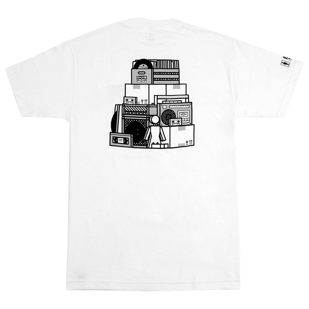 Girl Skateboards x Subpop Stacked T Shirt in White