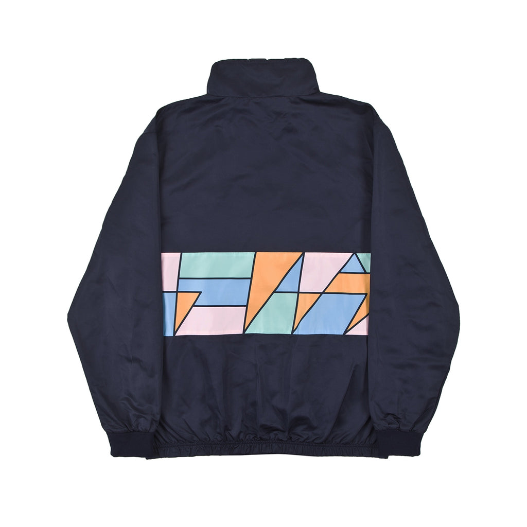 Helas Mosaic Tracksuit Jacket in Navy - Back