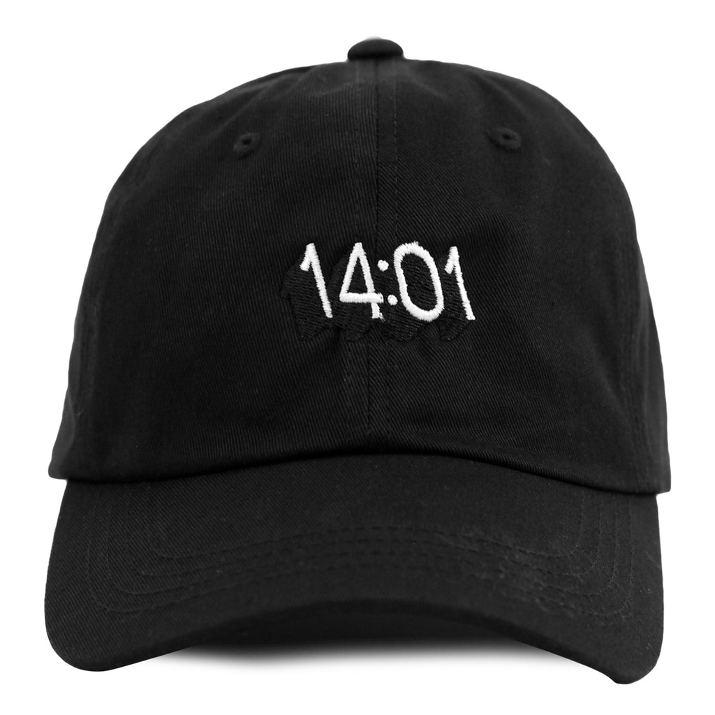 14:01 Skateboard Co Logo Dad Cap in Black - Front