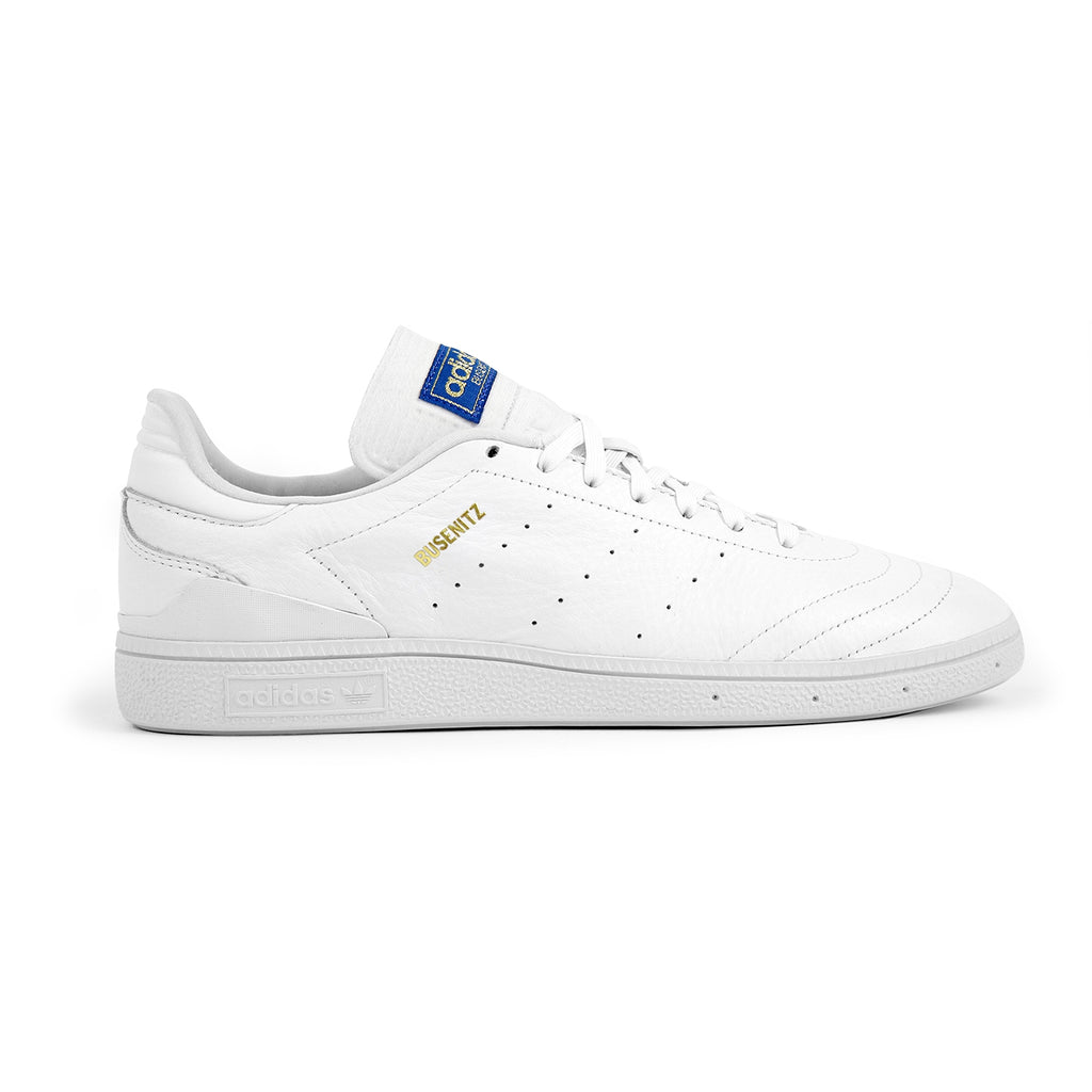 Adidas Skateboarding Busenitz RX Skate Shoes in Footwear White / Gold Metallic / Blue Bird