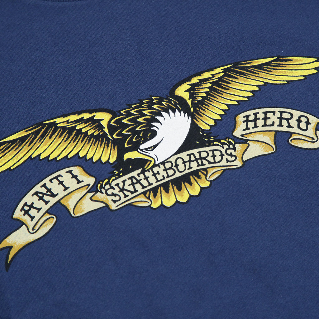 Anti Hero Skateboards Eagle T Shirt in Harbour Blue - Print