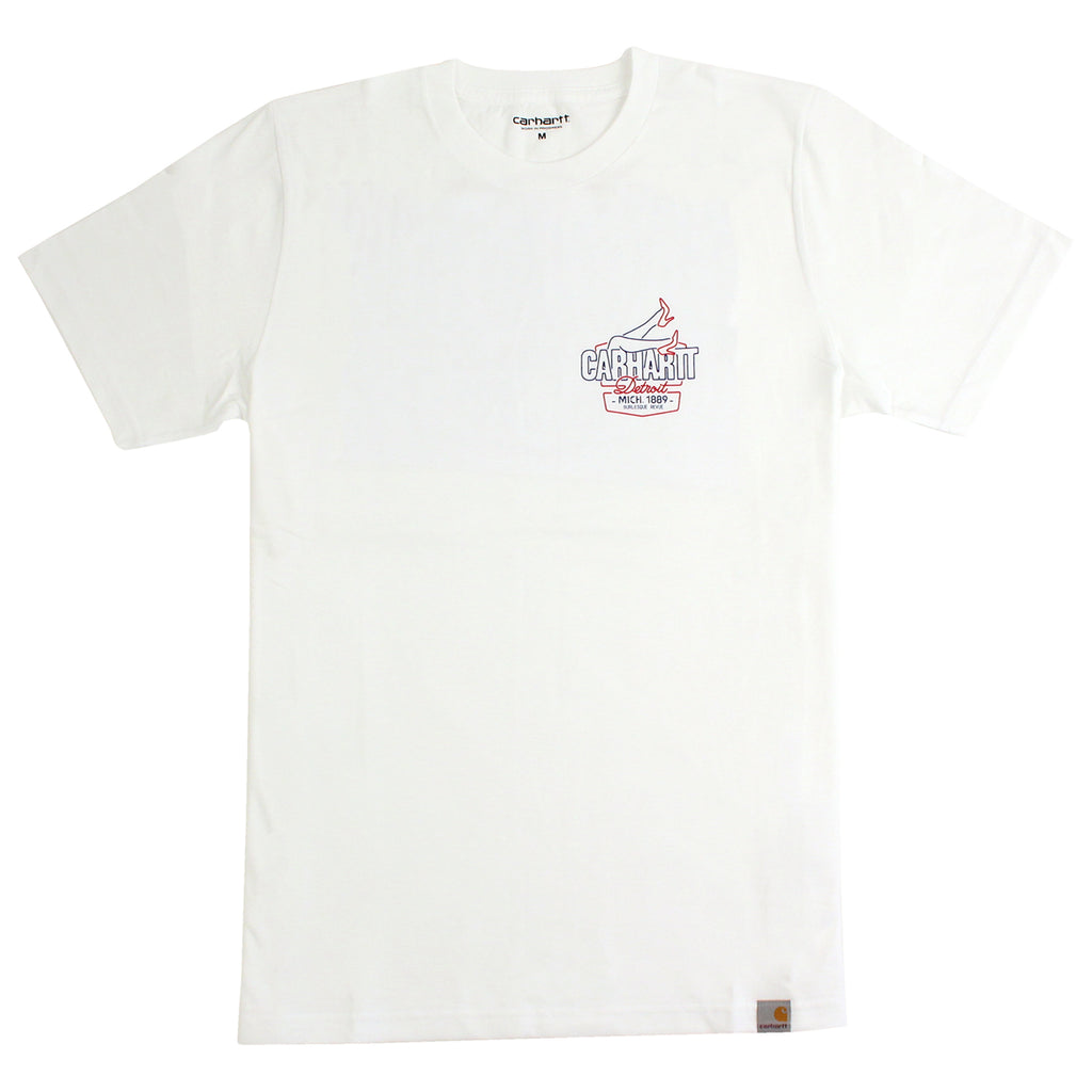 Carhartt WIP Burlesque T Shirt in White - Front