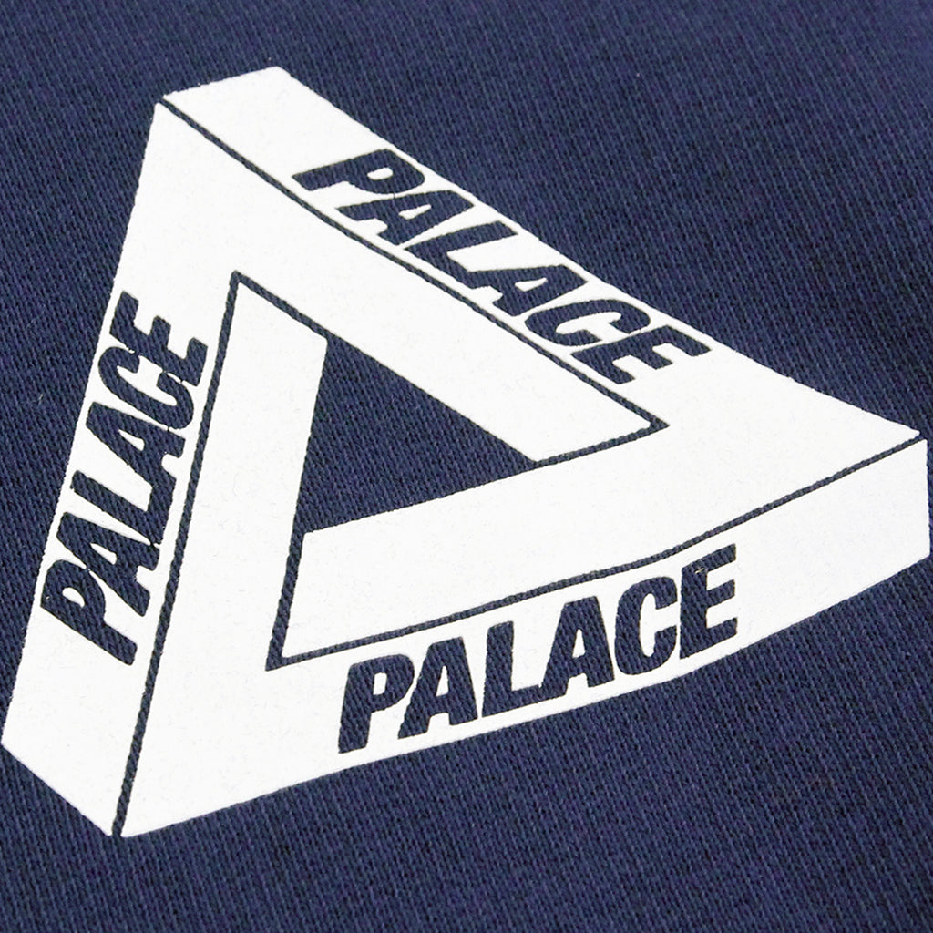 Palace x Adidas Crew Neck Sweatshirt in Night Indigo - Tri Ferg