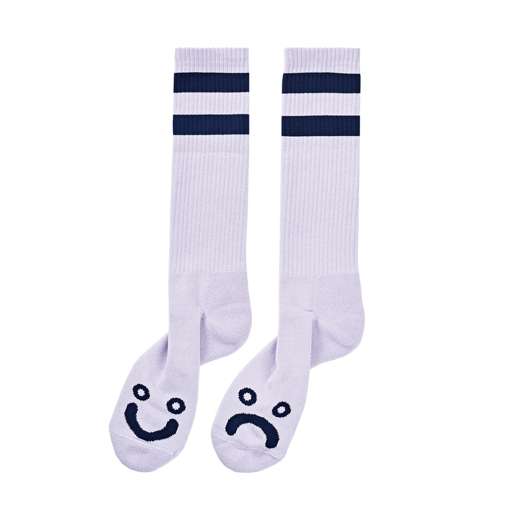 Polar Skate Co Happy Sad Classic Socks in Lavender