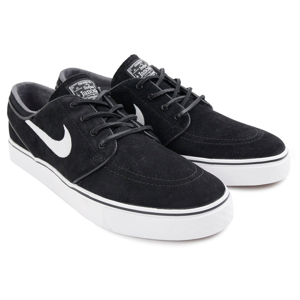 Nike SB Stefan Janoski OG Shoes in Black / White - Gum Light Brown - Pair