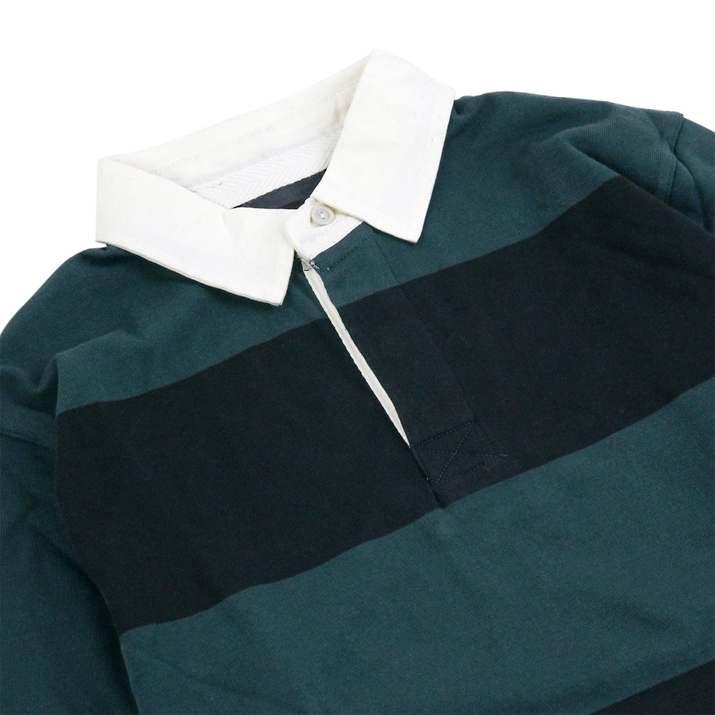 Dickies Cedar Key Rugby Shirt in Green Cables - Detail