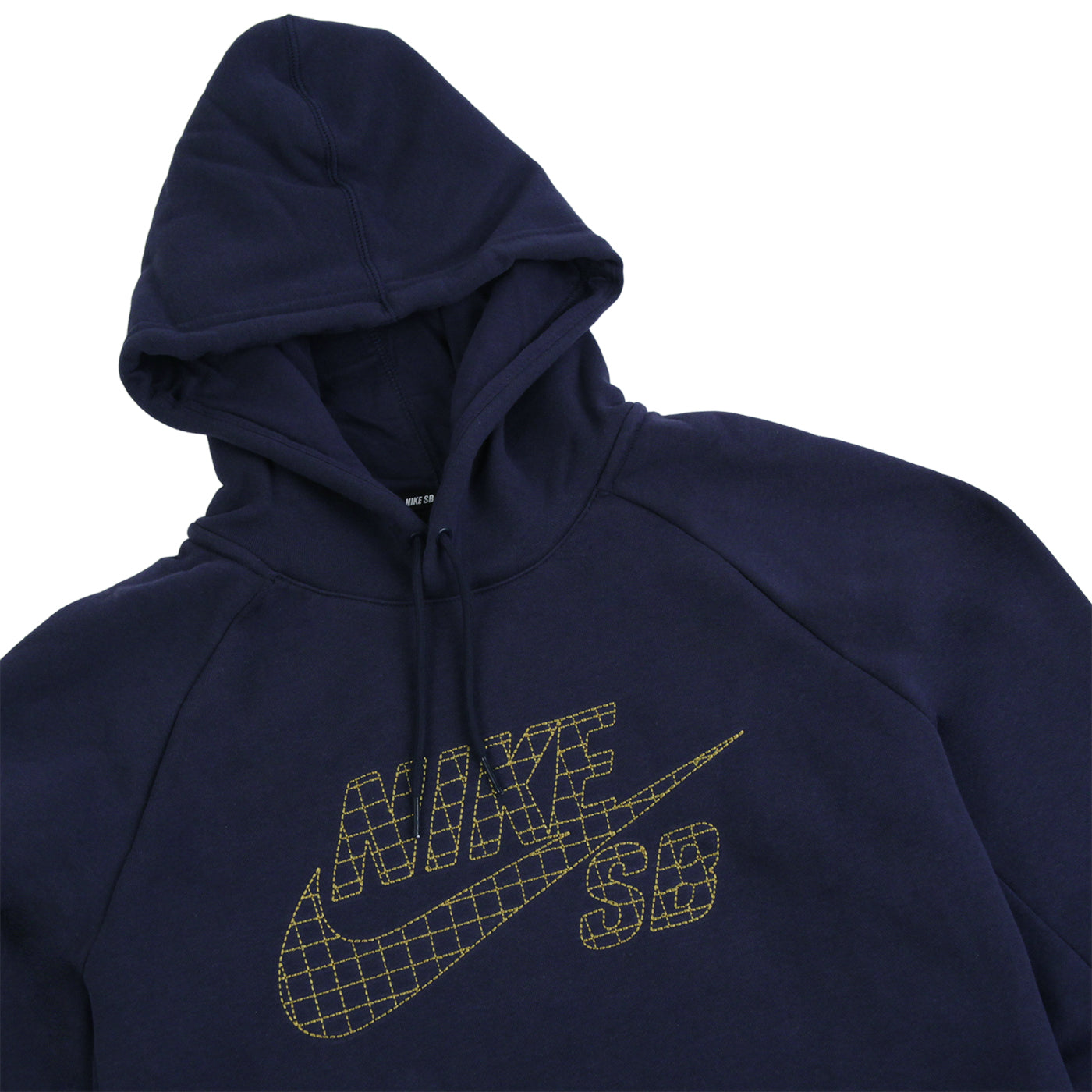 e085a4f6c195 Nike SB SB Icon Grid Fill Pullover Hoodie - Navy   Metallic Gold. Size  Charts