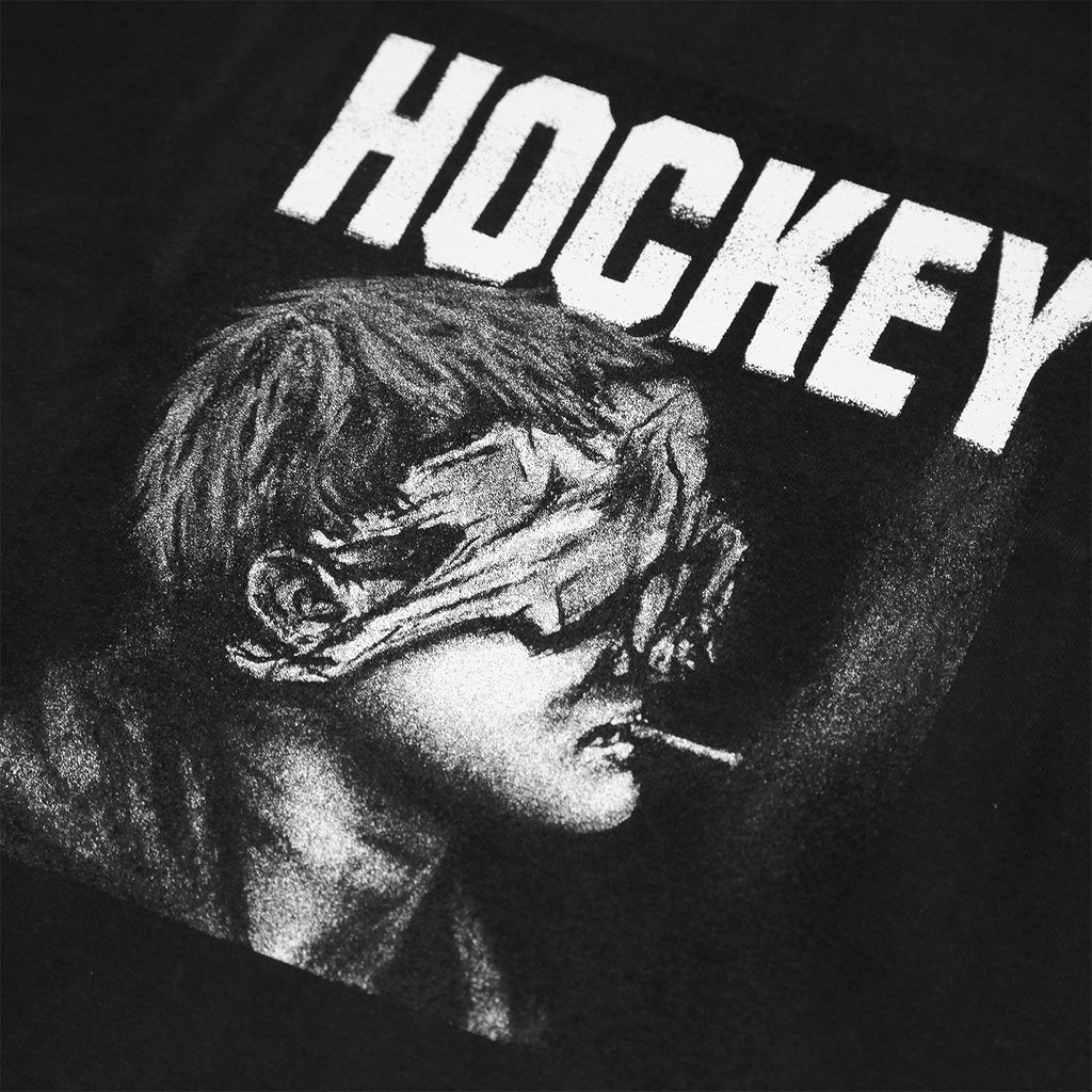 Hockey Skateboards Blindfold T Shirt in Black - Print