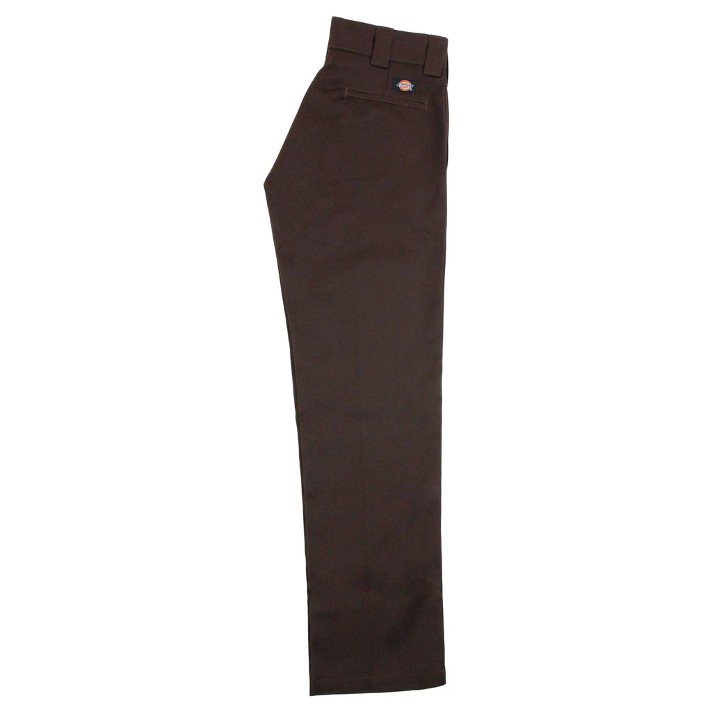 Dickies 873 Slim Straight Work Pant in Chocolate - Leg