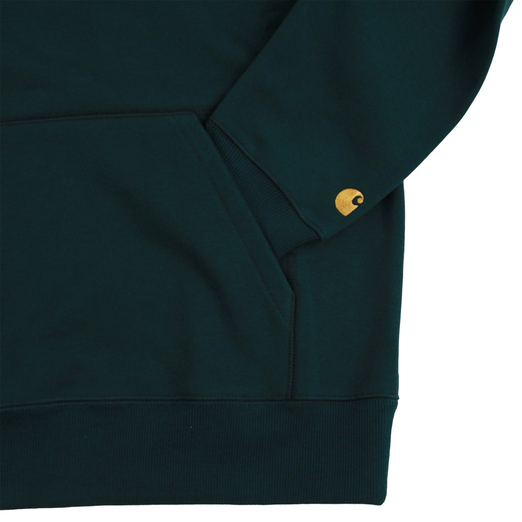 Carhartt Hooded Chase Sweat Hoodie in Parsley / Gold - Cuff