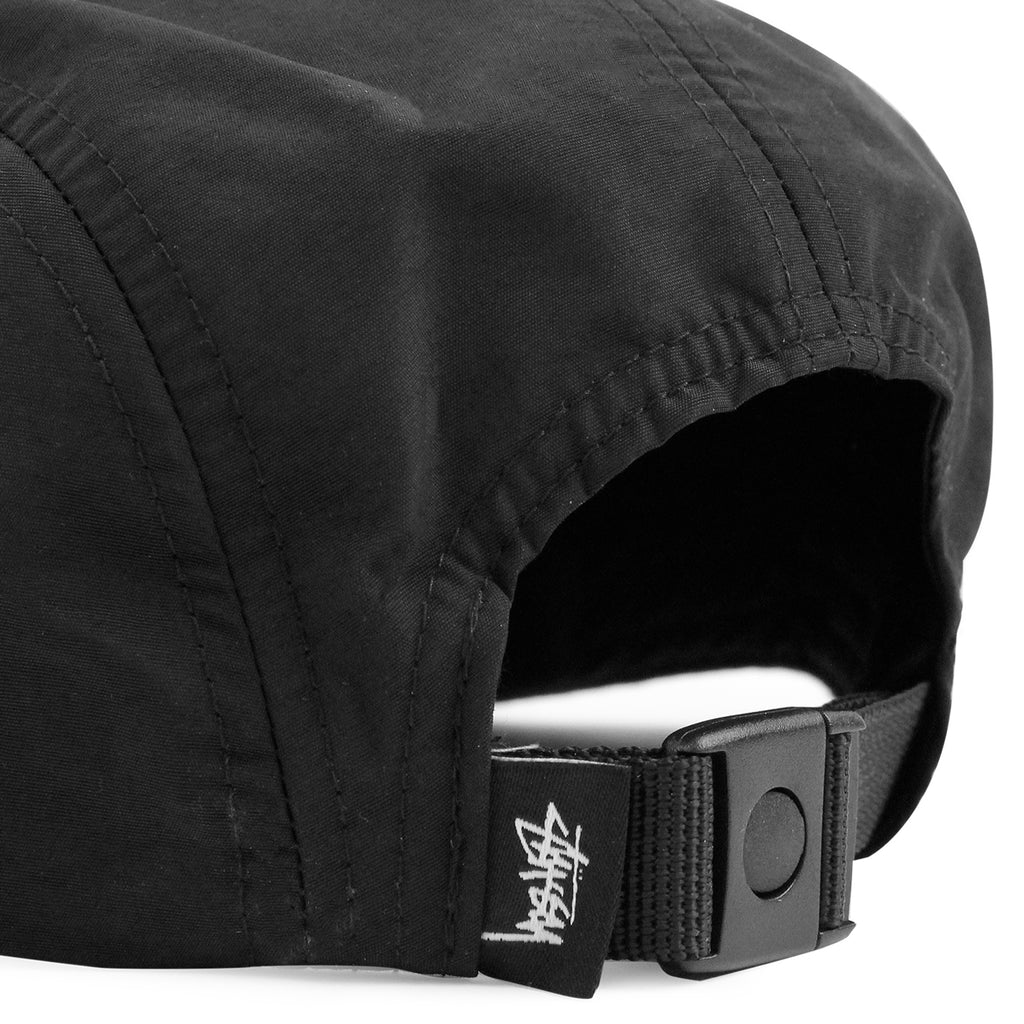 01636aa34ce Stussy Reflective Tape 5 Panel Cap in Black - Strap
