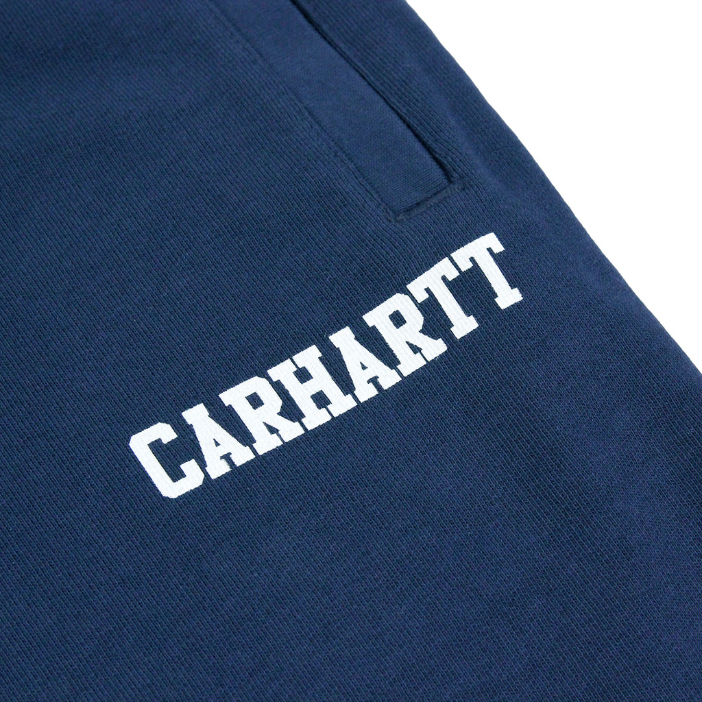 Carhartt College Sweat Short in Blue / White - Print