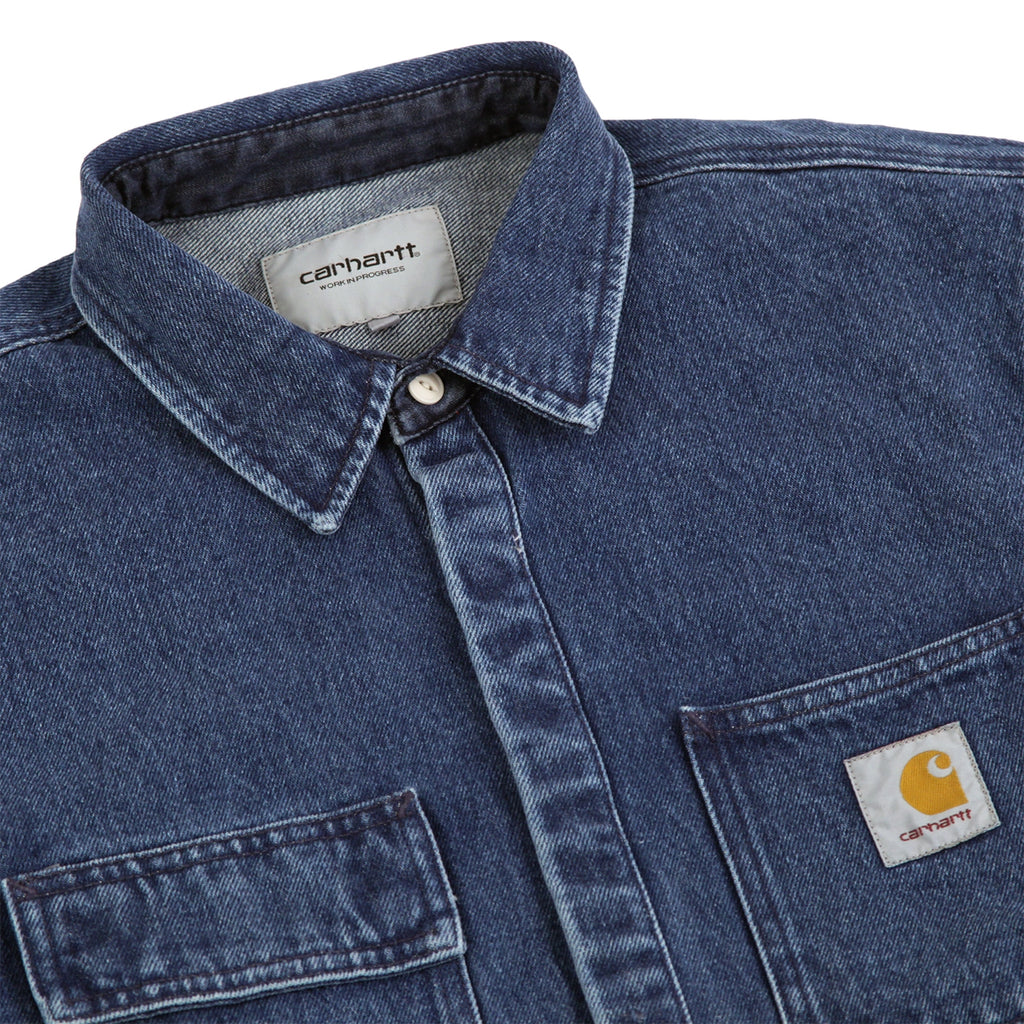 Carhartt Salinac Shirt Jac in Blue Stone Washed - Detail