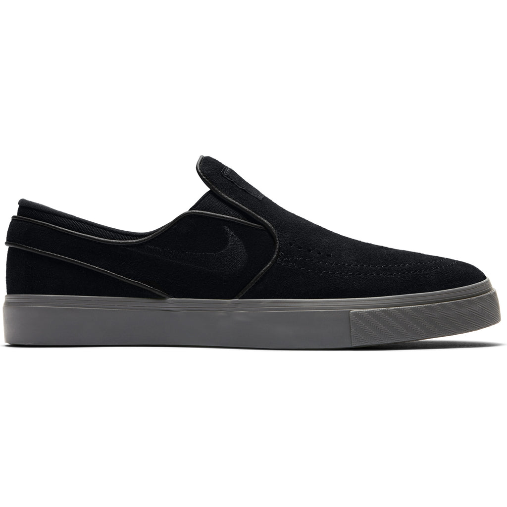 Nike SB Zoom Stefan Janoski Slip Shoes in Black / Black - Thunder Grey