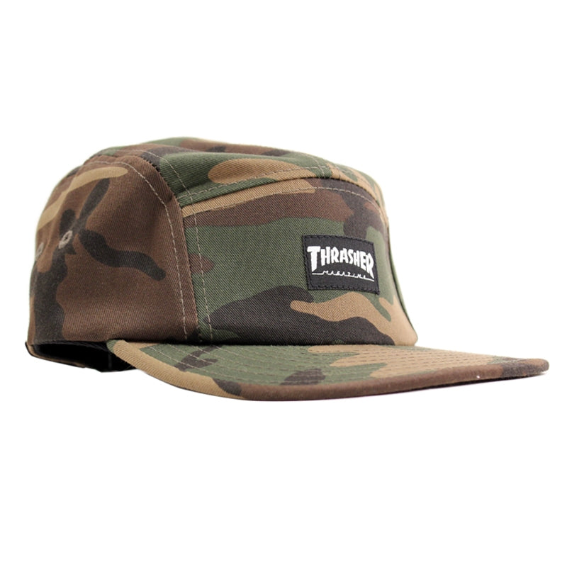 Thrasher 5 Panel Cap in Camo