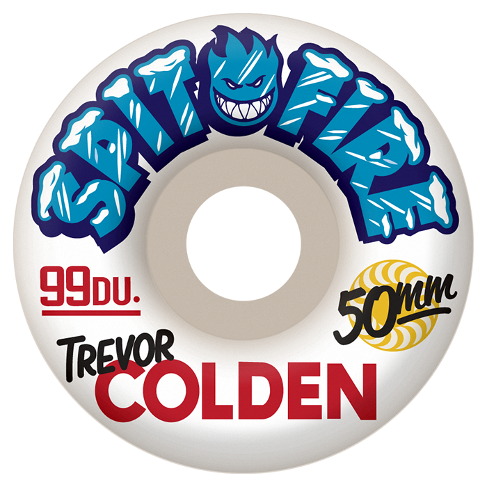 Spitfire Wheels Trevor Colden Ice White Skateboard Wheels in 50mm