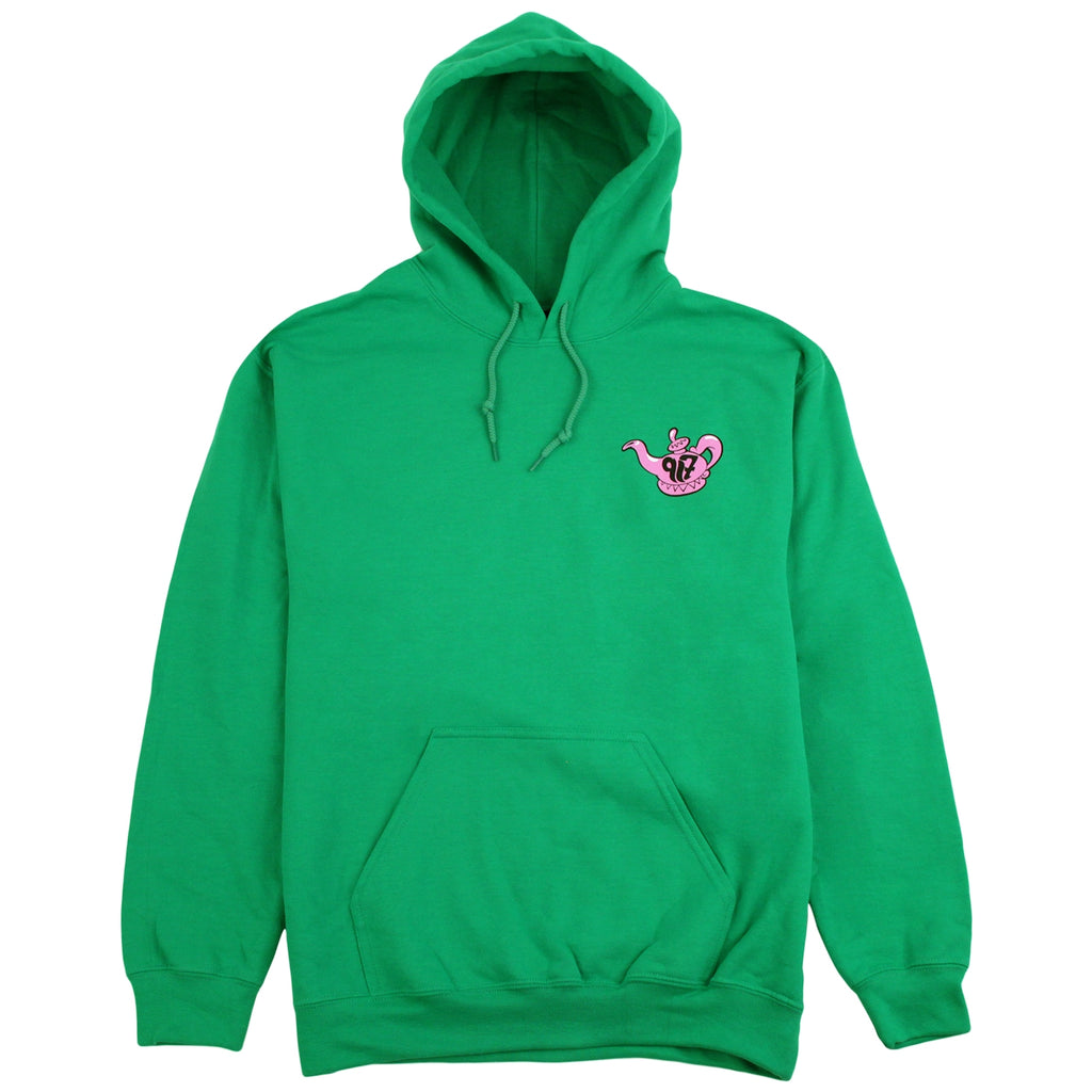 Call Me 917 Really Sorry Hoodie in Green - Front