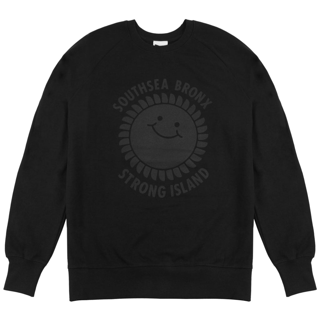 Southsea Bronx Strong Island Sweatshirt in Black on Black
