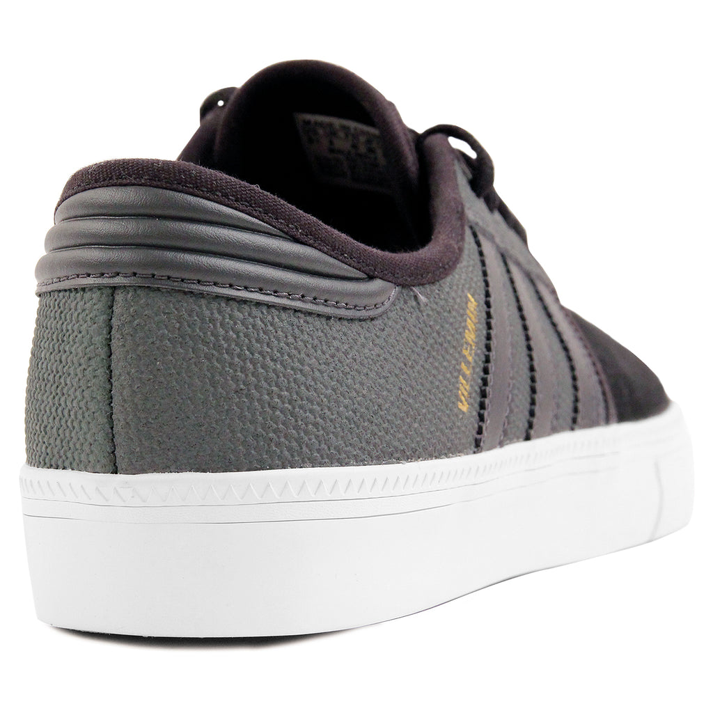 Adidas Skateboarding Seeley ADV Pro Villemin Shoes in DGH Solid Grey / DGH Solid Grey / Core Black - Heel