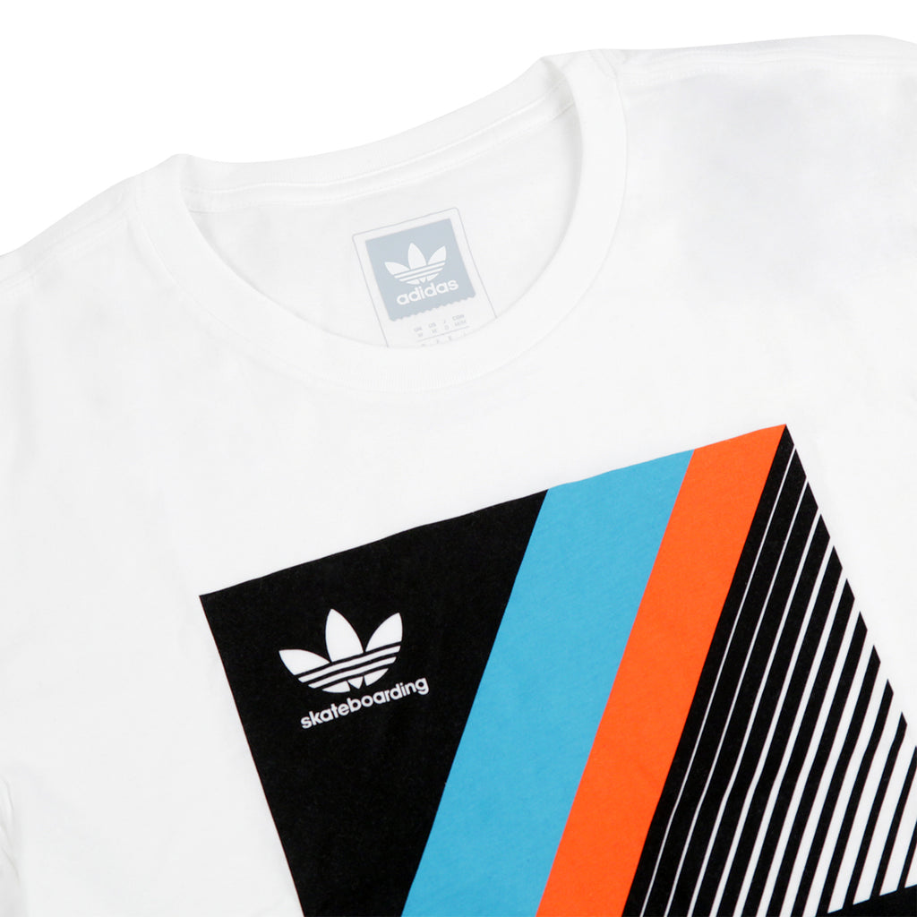 37540cd8 VHS Block T Shirt in White by Adidas Skateboarding | Bored of Southsea