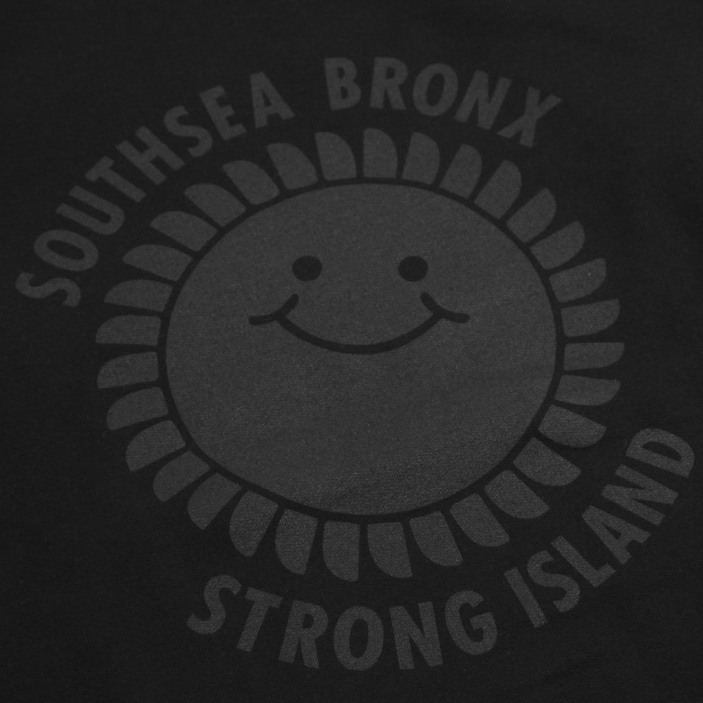 Southsea Bronx Strong Island Sweatshirt in Black on Black - Print