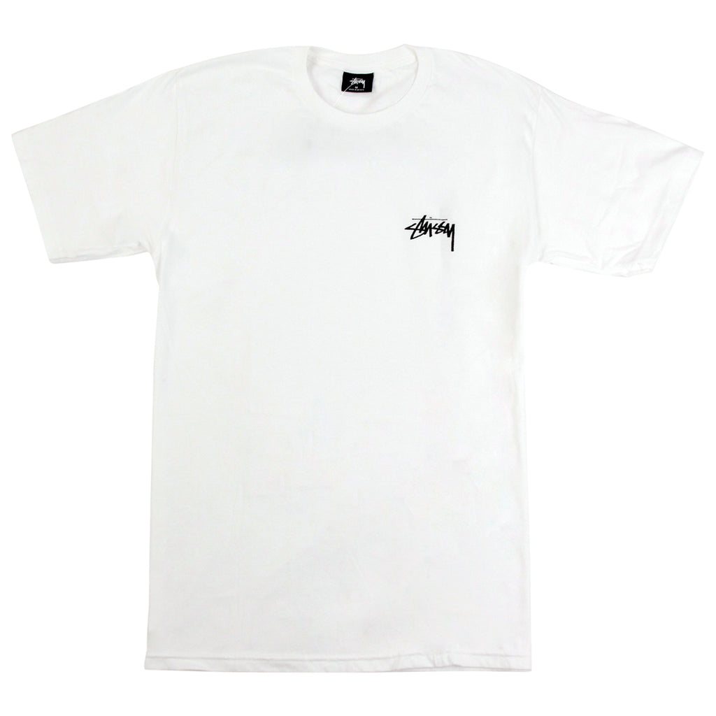 Stussy Tidal S T Shirt in White - Front
