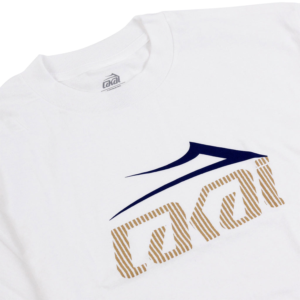 Lakai Tonal Tech T Shirt in White - Detail