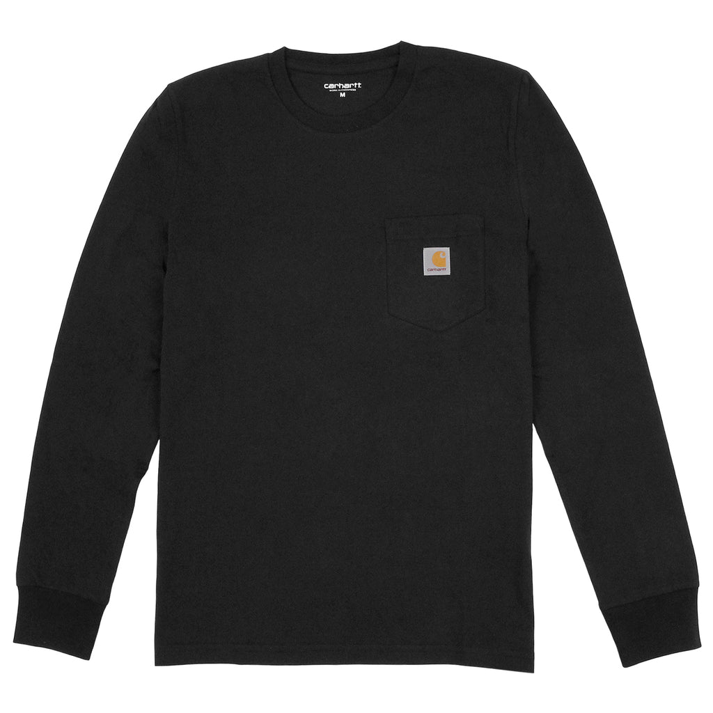 Carhartt Pocket L/S T Shirt in Black