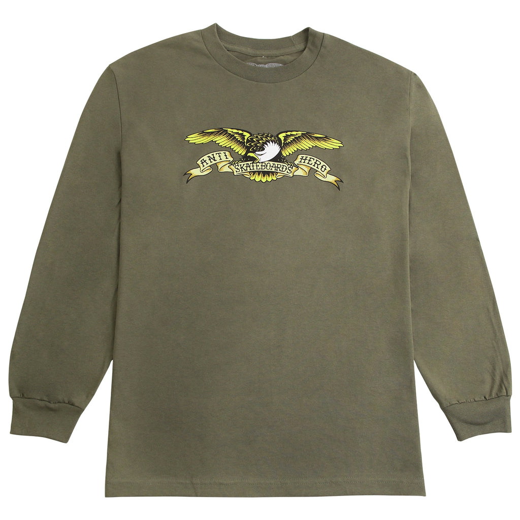 Anti Hero Skateboards Eagle L/S T Shirt in Military Green